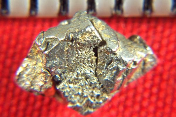 Rare gold coated platinum crystal nugget from russia 0 dog b.