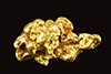 Turtle Shaped Natural Alaskan Gold Crystal Nugget