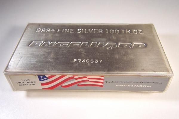100 Oz Silver Bullion Bar Rare Engelhard Struck Bar