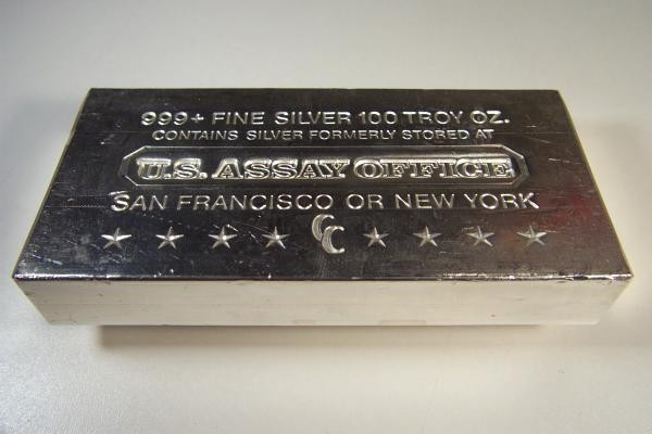Rare 100 Oz Silver Bullion Bar Us Assay Office 0 00